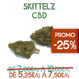 Skittelz CBD en promotion sur Marie-Jeanne d'Arc de 5,25€/g à 7,50€/g