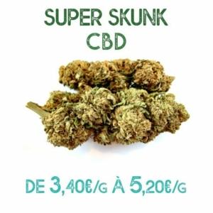 Super Skunk CBD en vente chez Marie-Jeanne d'Arc